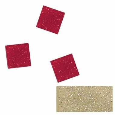 Zilver glitter mozaiek steentjes in doosje