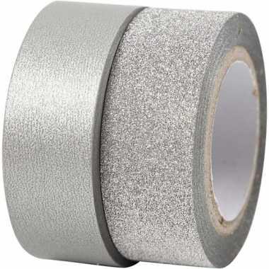 Zilver knutsel tape 2 rollen