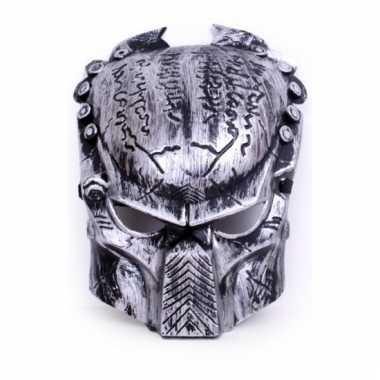 Zilver predator masker voor volwassenen
