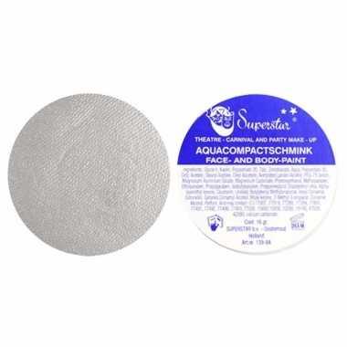 Zilveren aqua schmink