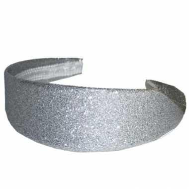 Zilveren diademen glitters