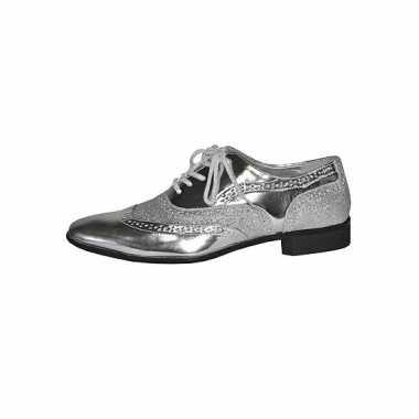 Zilveren heren schoenen met veters