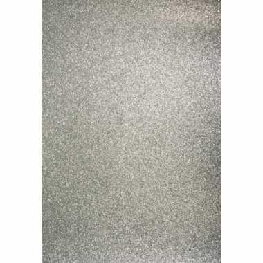 Zilveren hobbykarton met glitters