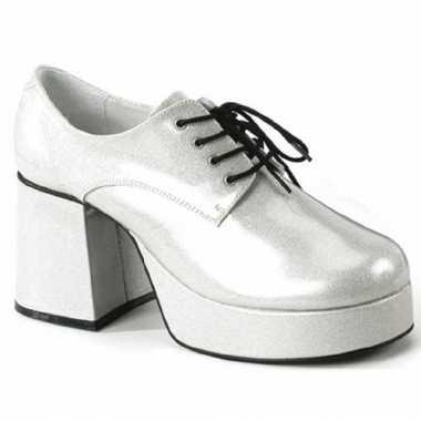 Zilverkleurige disco schoenen voor heren