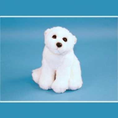 Zittende ijsbeer knuffel 23 cm