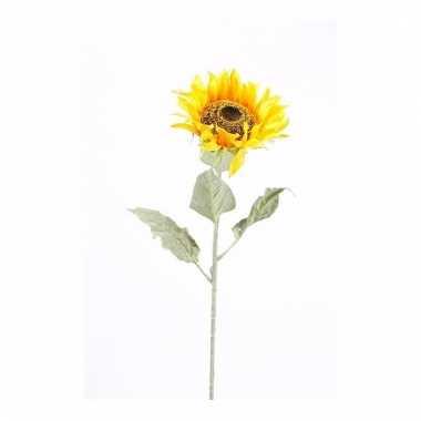 Zonnebloem nep tak 82 cm geel