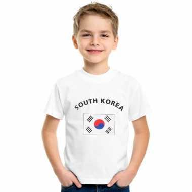 Zuid korea vlaggen t-shirts voor kinderen