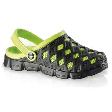 Zwart/groene water sandalen