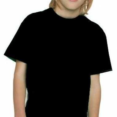 Zwart kinder t-shirt met ronde hals