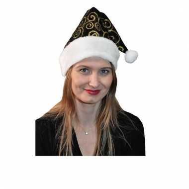 Zwart met gouden kerstmutsen