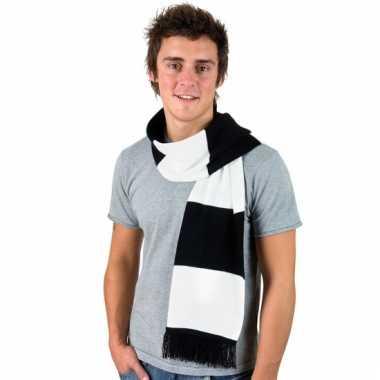 Zwart met wit gestreepte heren sjaal