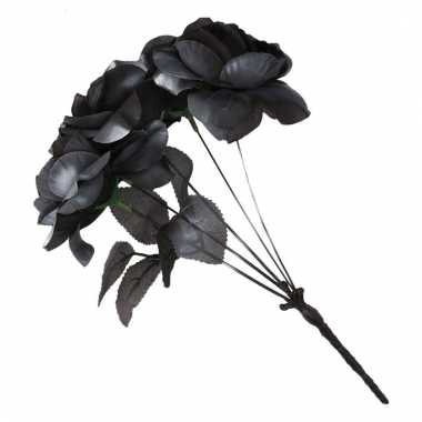 Zwart rozen boeket trouwen