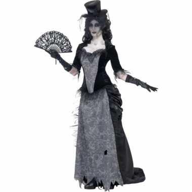 Zwart weduwe kostuum voor dames