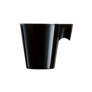 Zwarte cafe lungo beker