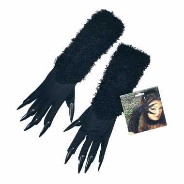 Zwarte cat woman handschoenen