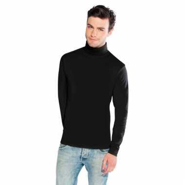 Zwarte colshirt voor heren