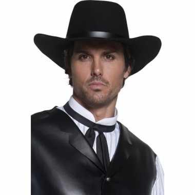 Zwarte cowboy hoed voor heren