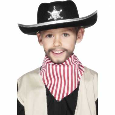 Zwarte cowboy hoed voor kids