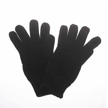 Zwarte dames/heren handschoenen