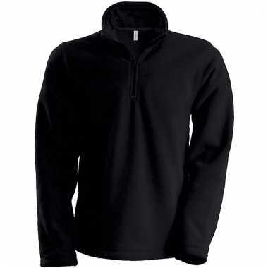 Zwarte de fleece trui voor heren met ritskraag