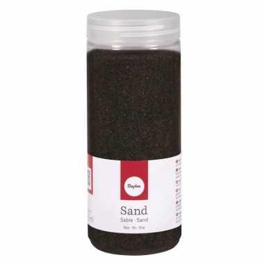 Zwarte decoratie zandkorrels fijn