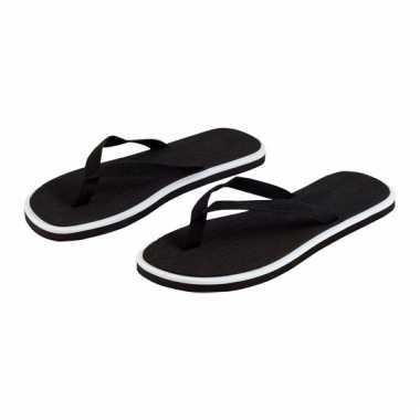Zwarte flip flop slippers voor dames