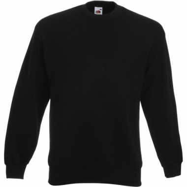 Zwarte fruit of the loom sweater ronde hals