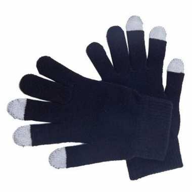 Zwarte handschoenen voor je mobiel
