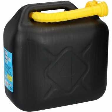 Zwarte jerrycan met schenktuit 10 l