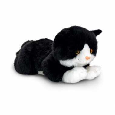 Zwarte kat knuffelbeest 35 cm