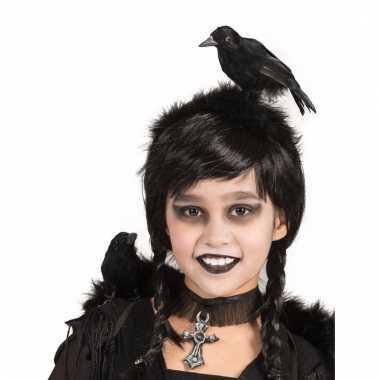 Zwarte kraai op je hoofd diadeem