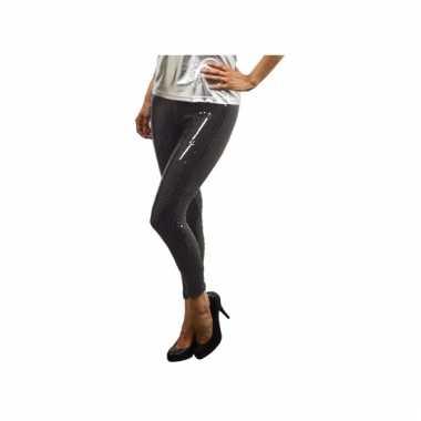 Zwarte leggings met pailletten