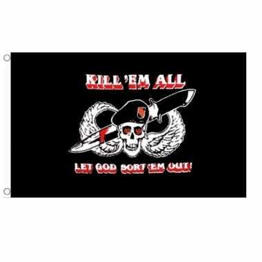 Zwarte mariniers vlaggen kill them all