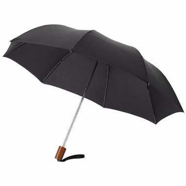 Zwarte mini paraplu 35 cm