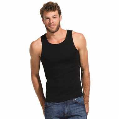 Zwarte mouwloze heren t-shirts