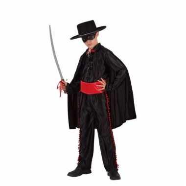 Zwarte oogmasker held verkleedkleding voor jongens