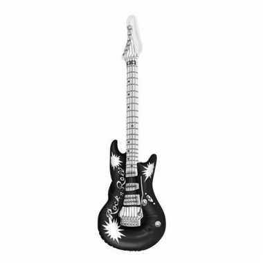 Zwarte opblaas gitaar 106 cm