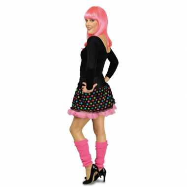Zwarte petticoat met roze voering