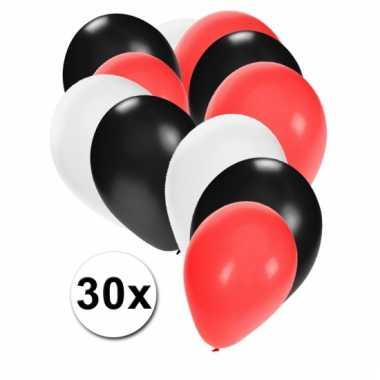 Zwarte, rode en witte ballonnen pakket