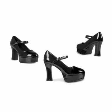 Zwarte schoenen met 10 cm hoge hak