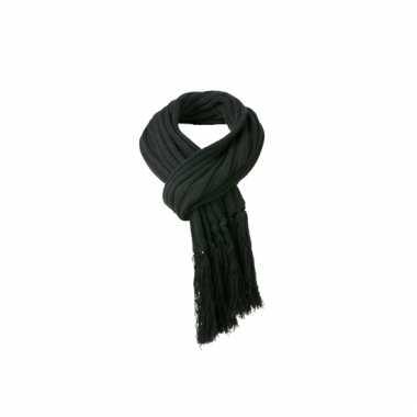 Zwarte sjaal extra lang voor volwassenen 2 m