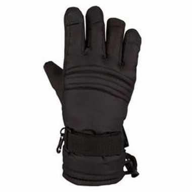 Zwarte ski handschoenen voor kinderen pu supergrip