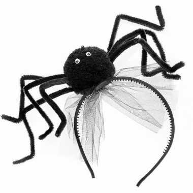 Zwarte spin haarband