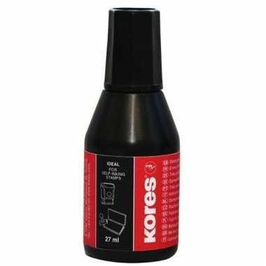 Zwarte stempelkussen inkt 27 ml