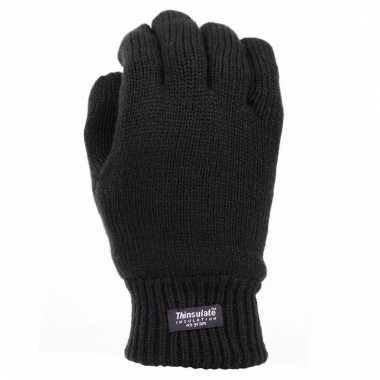 Zwarte thermo handschoenen thinsulate