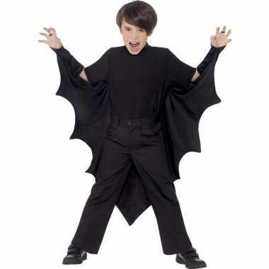 Zwarte vleermuizen cape voor kinderen