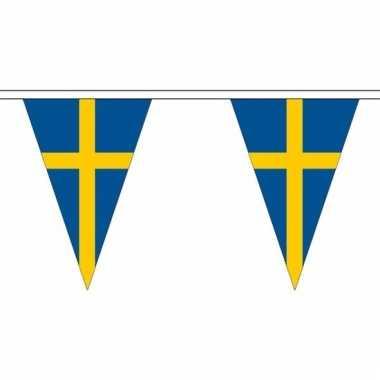 Zweden versiering vlaggenlijn 5 m