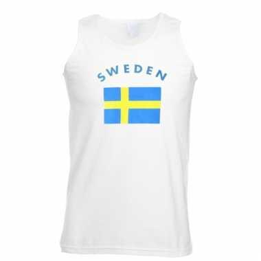 Zweden vlaggen tanktop/ t-shirt