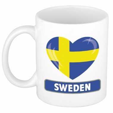 Zweedse vlag hart mok / beker 300 ml