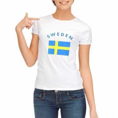 Zweedse vlaggen t-shirt voor dames